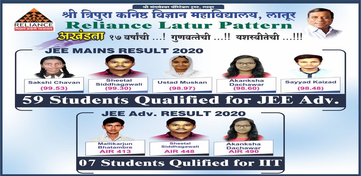 2020 JEE mains Results